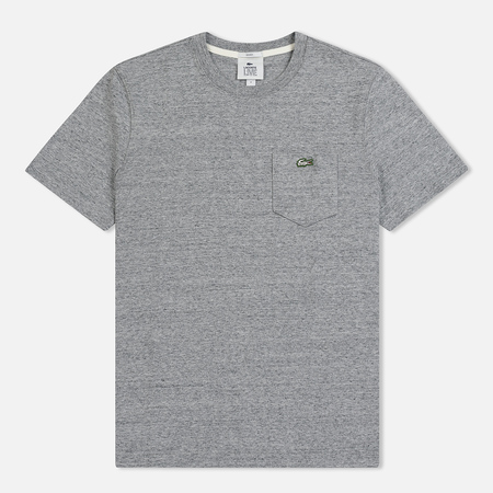 Мужская футболка Lacoste Live Crew Neck Cotton Jersey Grey Chine