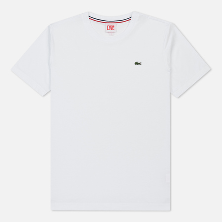 Мужская футболка Lacoste Live Crew Neck Cotton White