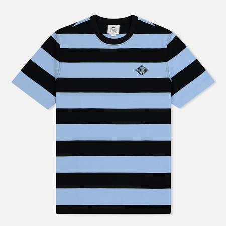 Мужская футболка Lacoste Live Crew Neck Diamond Badge Striped Light Blue/Black