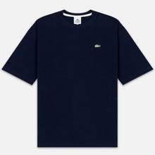 Мужская футболка Lacoste Live Crew Neck Loose Cotton Navy Blue фото- 0