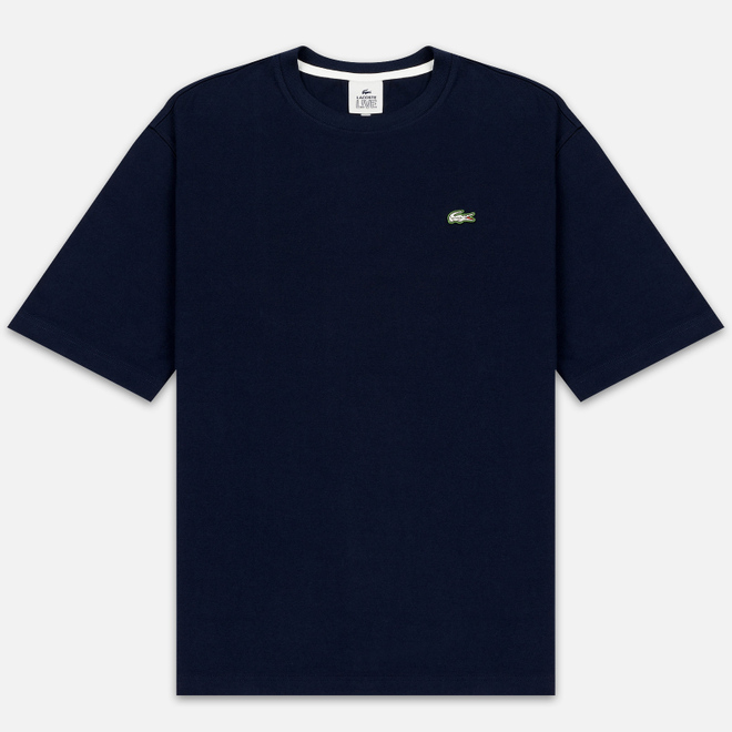 Мужская футболка Lacoste Live Crew Neck Loose Cotton Navy Blue