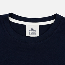 Мужская футболка Lacoste Live Crew Neck Loose Cotton Navy Blue фото- 1