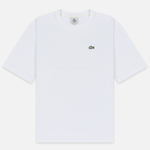 Мужская футболка Lacoste Live Crew Neck Loose Cotton White фото- 0