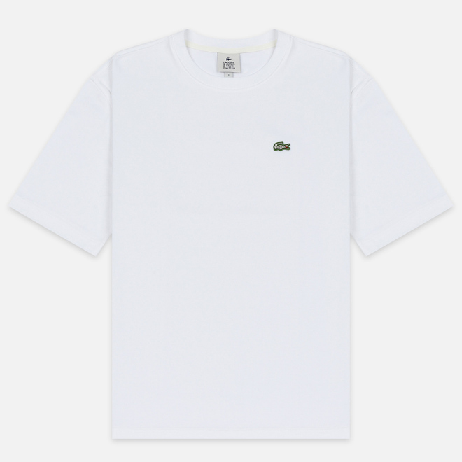 Мужская футболка Lacoste Live Crew Neck Loose Cotton White