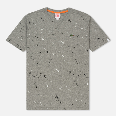 Мужская футболка Lacoste Live Crew Neck Speckled Print Palladium Mouline/Multicolor