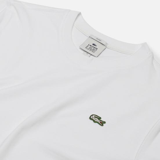 Мужская футболка Lacoste Live Embroidered Logo White
