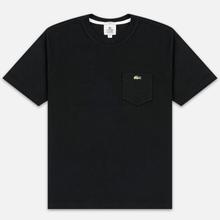Мужская футболка Lacoste Live Pocket Heathered Cotton Black фото- 0