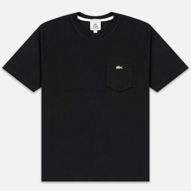 Мужская футболка Lacoste Live Pocket Heathered Cotton Black