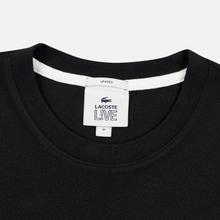 Мужская футболка Lacoste Live Pocket Heathered Cotton Black фото- 1