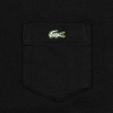 Мужская футболка Lacoste Live Pocket Heathered Cotton Black фото- 2