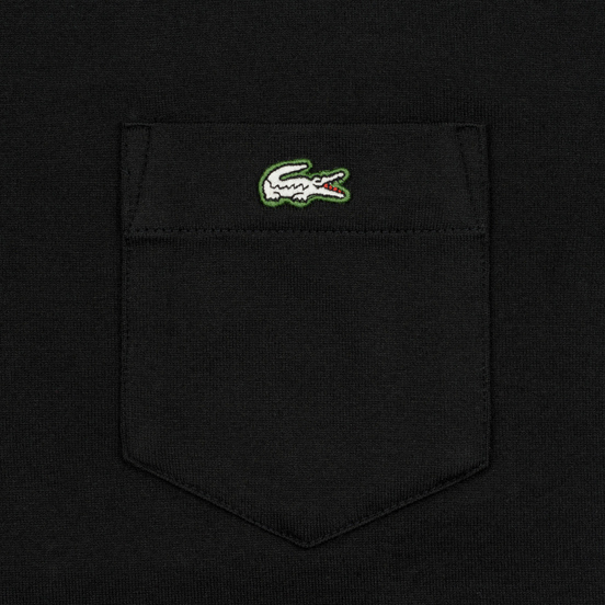 Мужская футболка Lacoste Live Pocket Heathered Cotton Black