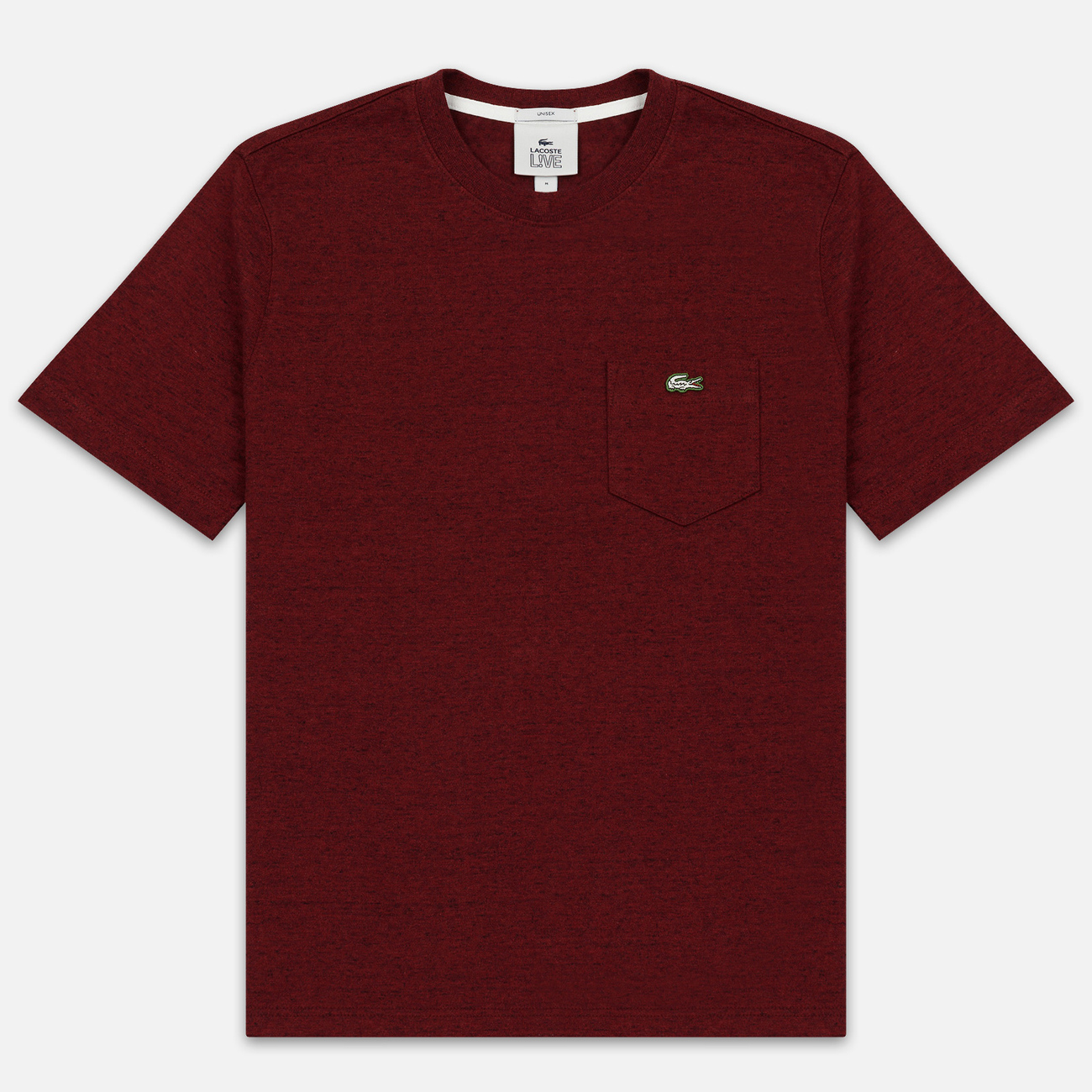 Мужская футболка Lacoste Live Pocket Heathered Cotton Red
