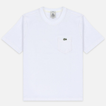 Мужская футболка Lacoste Live Pocket Heathered Cotton White фото- 0