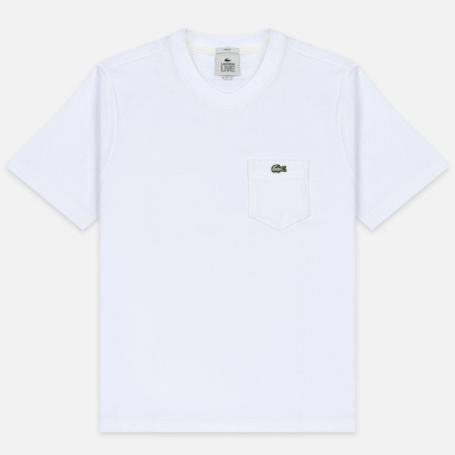 Мужская футболка Lacoste Live Pocket Heathered Cotton White