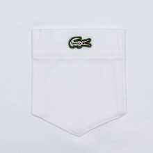 Мужская футболка Lacoste Live Pocket Heathered Cotton White фото- 2