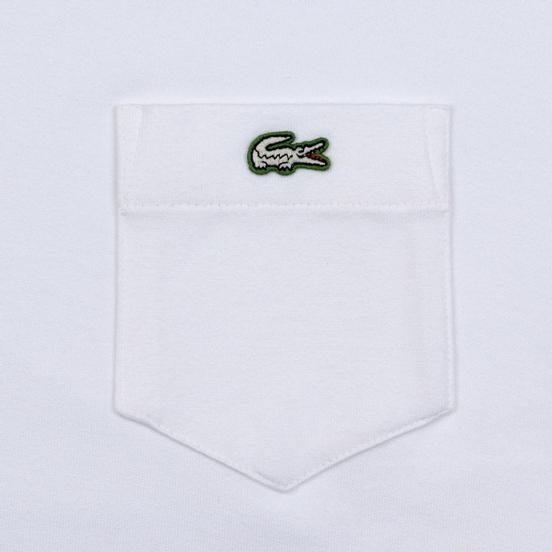 Мужская футболка Lacoste Live Pocket Heathered Cotton White