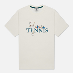 Мужская футболка Lacoste Live Tennis Design White