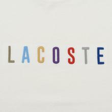 Мужская футболка Lacoste Multicoloured Embroidered Signature White фото- 2