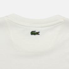 Мужская футболка Lacoste Multicoloured Embroidered Signature White фото- 3