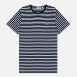 Мужская футболка Lacoste Stripe Jersey Navy/White фото- 0