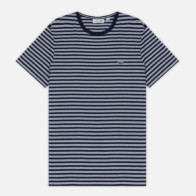Мужская футболка Lacoste Stripe Jersey Navy/White