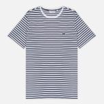 Мужская футболка Lacoste Stripe Jersey White/Navy фото- 0