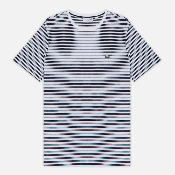 Мужская футболка Lacoste Stripe Jersey White/Navy