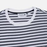 Мужская футболка Lacoste Stripe Jersey White/Navy фото- 1