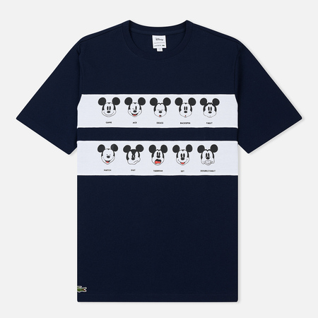 Мужская футболка Lacoste x Disney Mickey Mouse Print Navy/White