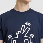 Мужская футболка Lacoste x Keith Haring Print Crew Neck Regular Fit Navy Blue фото- 2