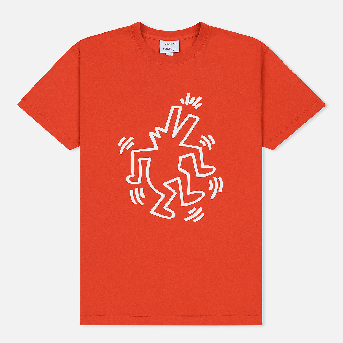 Мужская футболка Lacoste x Keith Haring Print Crew Neck Regular Fit Red