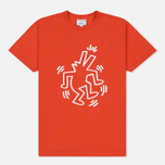 Мужская футболка Lacoste x Keith Haring Print Crew Neck Regular Fit Red фото- 0
