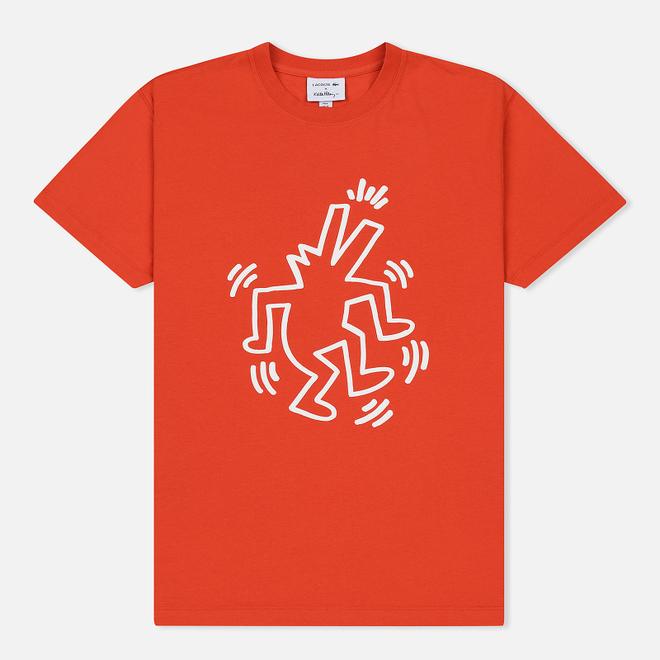 Мужская футболка Lacoste x Keith Haring Print Crew Neck Regular Fit Red