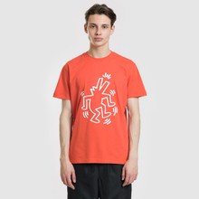 Мужская футболка Lacoste x Keith Haring Print Crew Neck Regular Fit Red фото- 1