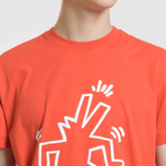 Мужская футболка Lacoste x Keith Haring Print Crew Neck Regular Fit Red фото- 2