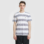 Мужская футболка Lacoste x Keith Haring Striped Print Crew Neck White/White фото- 1