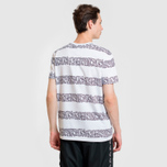Мужская футболка Lacoste x Keith Haring Striped Print Crew Neck White/White фото- 3
