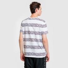 Мужская футболка Lacoste x Keith Haring Striped Print Crew Neck White/White фото- 3
