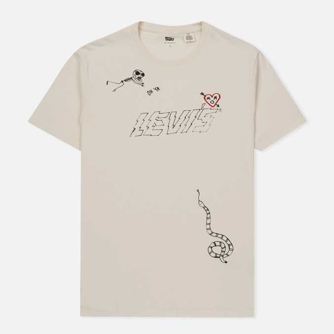 Мужская футболка Levi's Graphic Chalky White