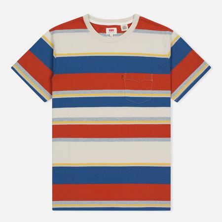 Мужская футболка Levi's Tab Pocket Stripe Orange