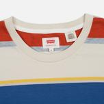 Мужская футболка Levi's Tab Pocket Stripe Orange фото- 1