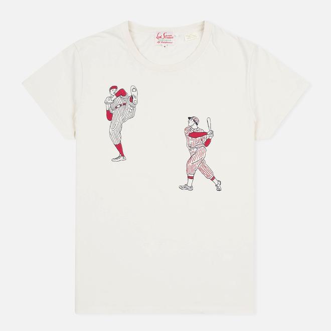Мужская футболка Levi's Vintage Clothing 1940s Graphic Putty At Bat Off-White