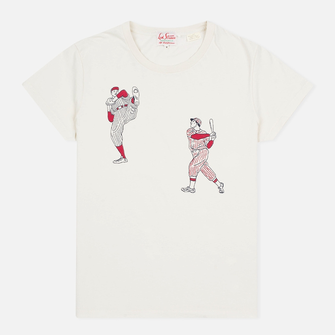 Мужская футболка Levi's Vintage Clothing 1940s Graphic Putty At Bat Off-White