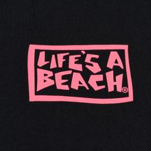 Мужская футболка Life's a Beach Box Logo Black фото- 2