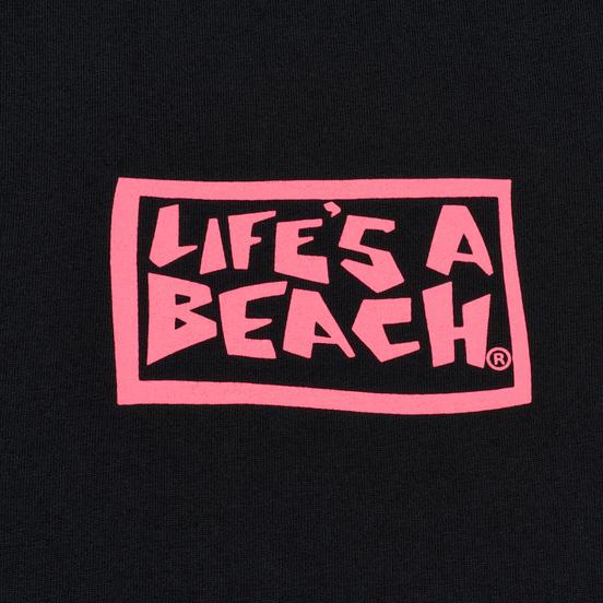 Мужская футболка Life's a Beach Box Logo Black