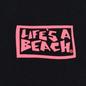 Мужская футболка Life's a Beach Box Logo Black фото - 2