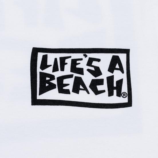 Мужская футболка Life's a Beach Box Logo White
