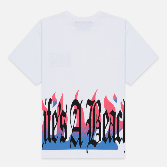 Мужская футболка Life's a Beach Flames White