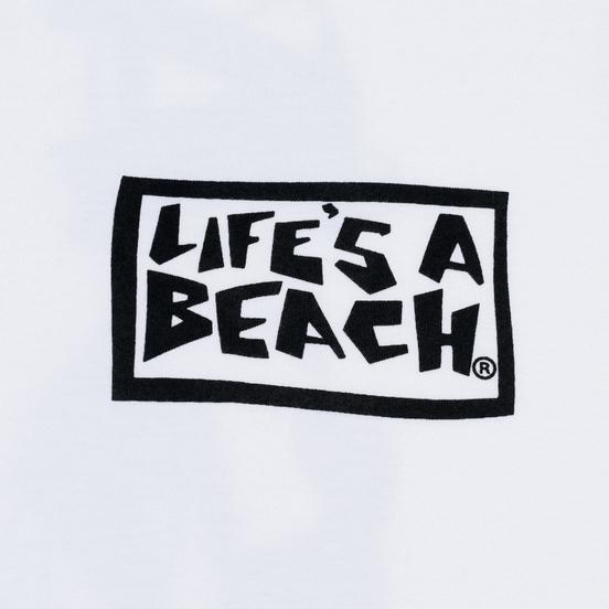 Мужская футболка Life's a Beach Psyche Tropic White