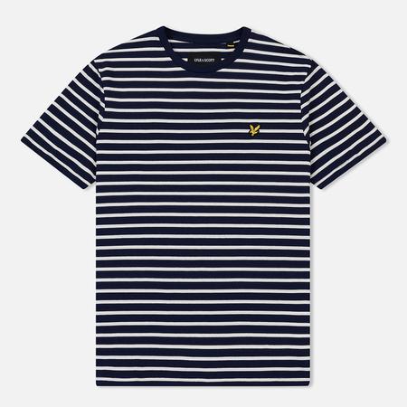 Мужская футболка Lyle & Scott Breton Stripe Navy/Snow White